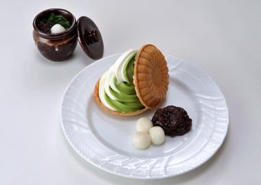 ㈬ソフトクリーム(抹茶&バニラ)