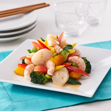 【柿安ダイニング】海老・帆立と7品目野菜のイタリアンマリネ