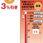 暑ければ暑いほどお得!松阪屋上野店で気温連動セール明日から開催!
