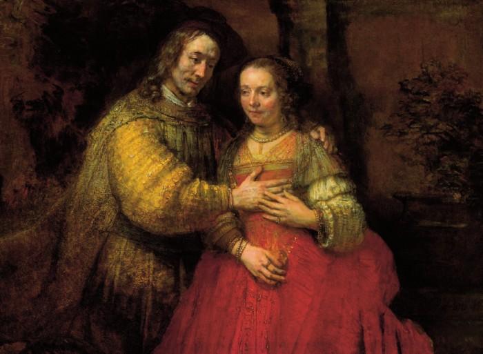 《ユダヤの花嫁》リ・クリエイト(1663-65 121.5×166.5cm アムステルダム国立美術館)