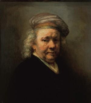 《自画像(最後の自画像)》リ・クリエイト(1669年 63.5×57.8cm マウリッツハイス美術館)