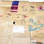 プランタン銀座が「秘密の落書き」を初公開 ギャラリー併設の事務所壁紙に海外画家らが寄せ書き!?